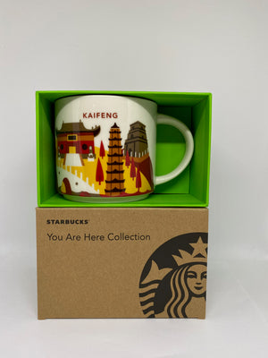 Starbucks You Are Here Collection Kaifeng China Ceramic Coffee Mug New With Box