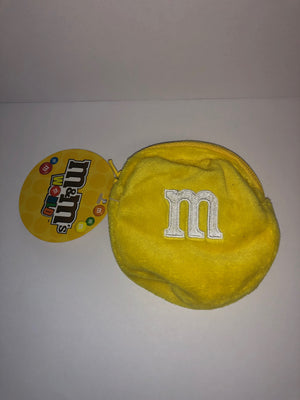 M&M's World Yellow Character Coin Purse Plush New with Tags
