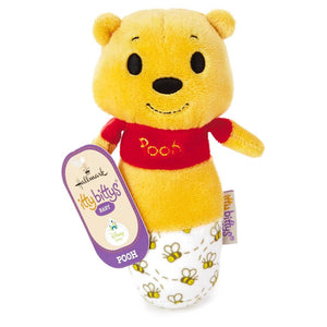 Hallmark Keepsake Itty Bittys Winnie the Pooh Baby Rattle Plush New with Tags