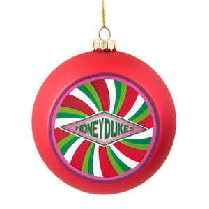 Universal Studios Harry Potter Honeydukes Glass Ball Christmas Ornament New