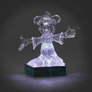 Disney Jim Shore Ice Bright Sorcerer Mickey Light-Up Figurine New with Box