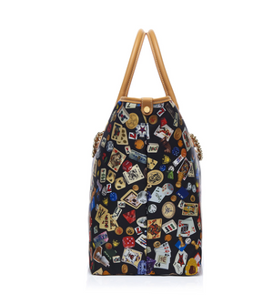 Macao Life is a Game Black Tote Bag Made in Italy by Divo Diva New