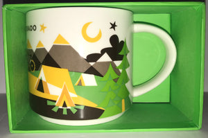 Starbucks You Are Here Collection Colorado Ceramic Coffee Mug New