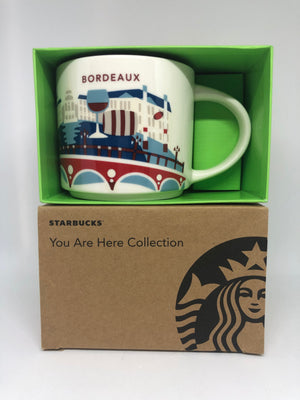 Starbucks You Are Here Collection France Bordeaux Ceramic Coffee Mug New W Box