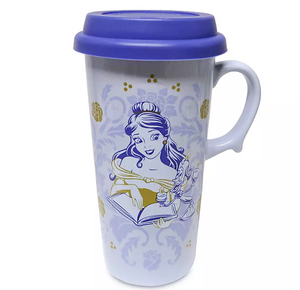 Disney Belle Beauty and the Beast Ceramic Travel Mug New
