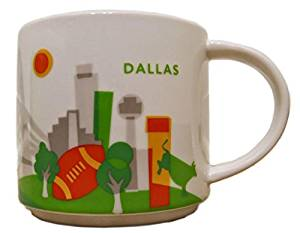 Starbucks You Are Here Collection Dallas Texas Ceramic Coffee Mug New With Box