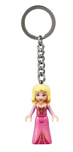 Lego Disney Princess Aurora Sleeping Beauty 853955 Key Chain New with Tag