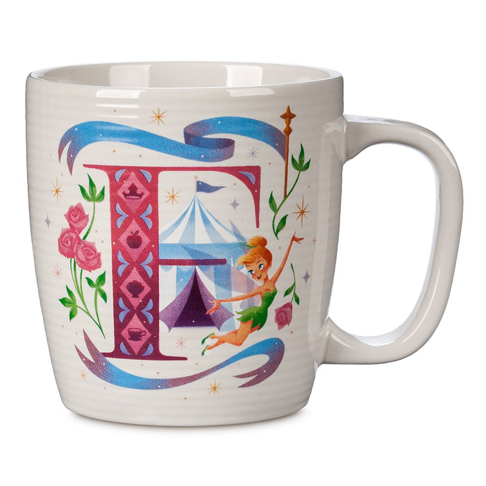 Disney Parks ABC Letters F is for Fantasyland Ceramic Coffee Mug New