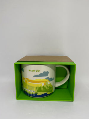 Starbucks You Are Here Collection Baotou China Ceramic Coffee Mug New w Box