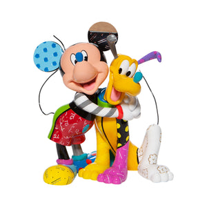 Disney Britto Mickey & Pluto Figurine New with Box