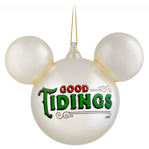 Disney Parks Turn of the Century Holiday Mickey Icon Ball Pearl Ornament New Tag