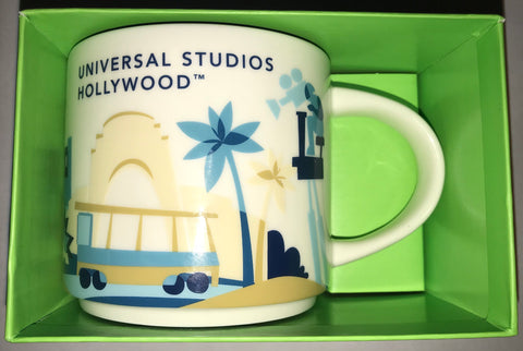 Starbucks You Are Here Collection Ceramic Mug Universal Studios Hollywood New