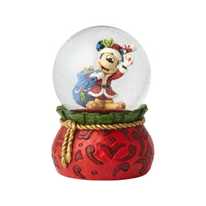 Disney Jim Shore Traditions Mickey Santa Christmas Waterball New with Box