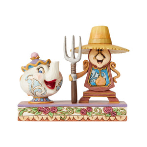 Disney Traditions Cogsworth and Mrs. Potts Jim Shore New with Box