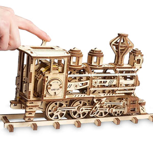Disney Parks Walter E. Train Wooden Puzzle Working Mechanical Model New Box