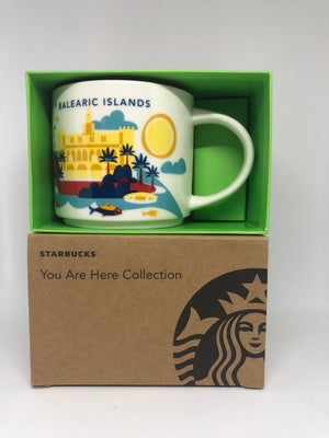 Starbucks You Are Here Spain Balearic Islands Ceramic Coffee Mug New W Box