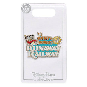 Disney Parks Mickey and Minnie Runaway Railway Logo Pin New with Card