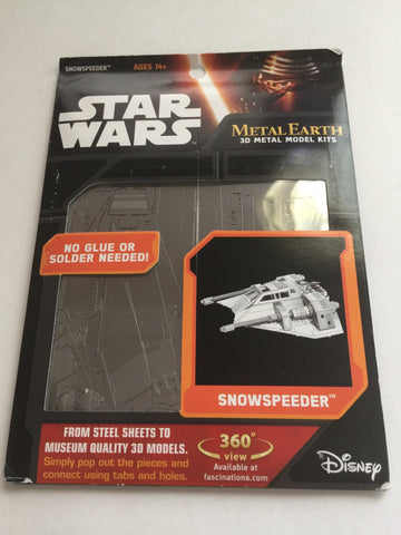Disney Parks Star Wars Snowspeeder Metal Model Kit 3D New with Card
