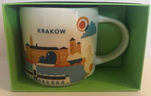 Starbucks You Are Here Collection Krakow Ceramic Coffee Mug New with Box
