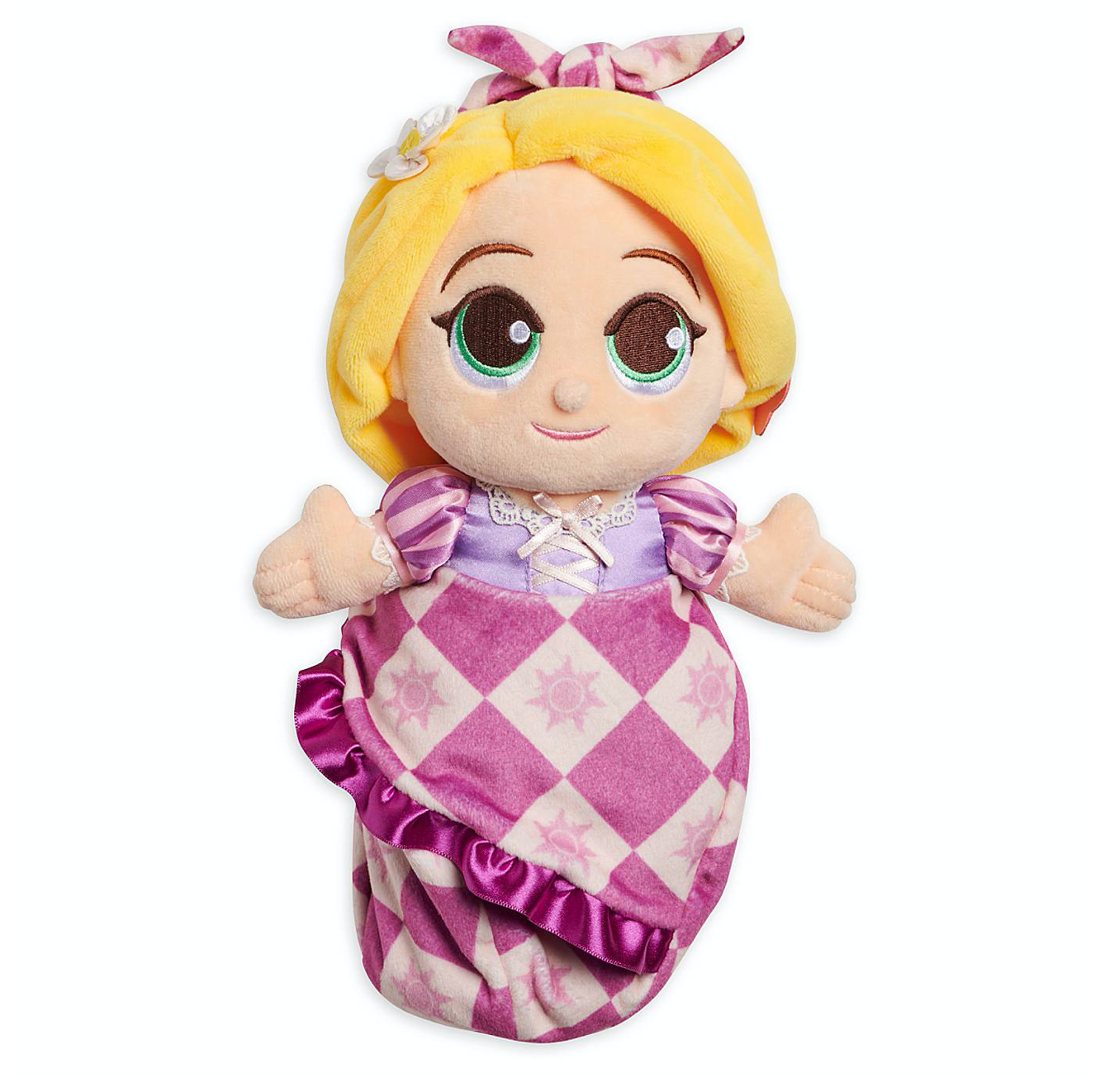 Disney Parks Tangled Baby Rapunzel In Blanket Pouch Plush New With Tag I Love Characters
