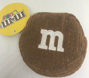 M&M's World Brown Logo Coin Purse Plush New with Tags