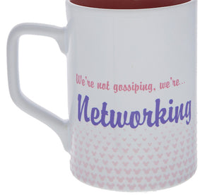Disney Parks Minnie Daisy We're Not Gossiping We're Networking Coffee Mug New