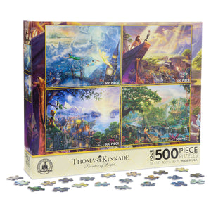 Disney Puzzle Set Thomas Kinkade Painter Of Light 4 x 500 Pieces Lion King New