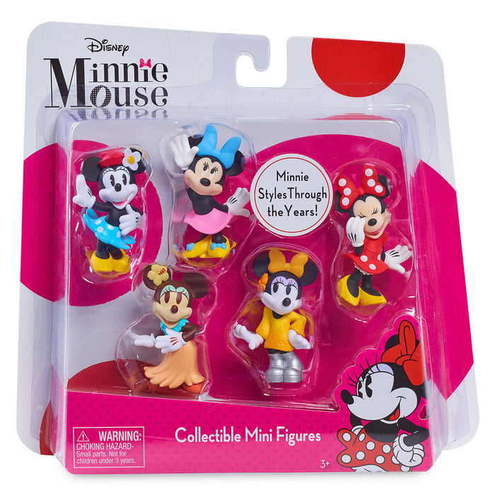Disney Minnie Mouse Collectible Mini Figures Set New with Box