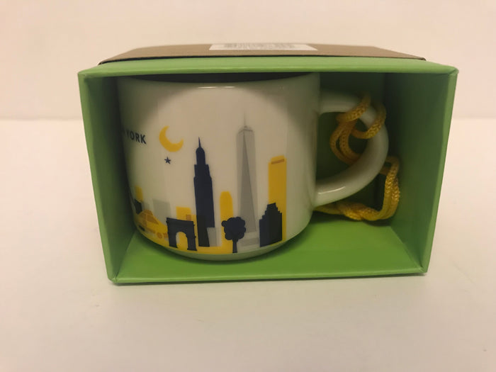 Starbucks Coffee You Are Here New York Ceramic Mug Ornament New with Box