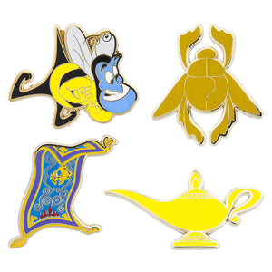 Disney Aladdin Pin Trading Flair Set Genie Bee Scarab Flying Carpet Magic Lamp