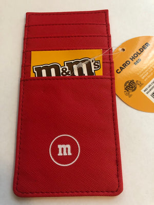 M&M's World Red Character Large Card Holder New with Tags