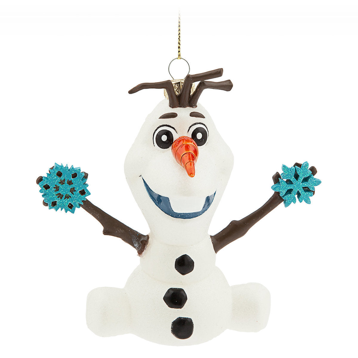 Disney Parks Glitter Glass Frozen Olaf Christmas Ornament New with ...