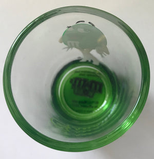 M&M's World Green Poses Clear Shot Glass New