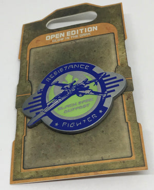 Disney Parks Star Wars Galaxy Edge Resistance Fighter Glows Pin New with Card