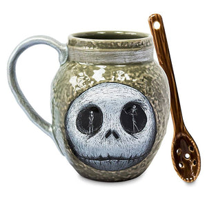 Disney The Nightmare Before Christmas Jack Deadly Night Shade Mug with Spoon New