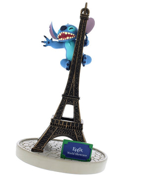 disney parks epcot paris stitch with tower eiffel figurine new with tags