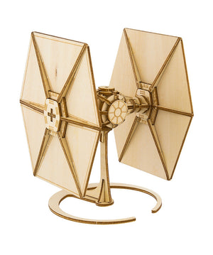 Disney Parks Star Wars TIE Fighter Book and 3D Wood Model Kit 3D New