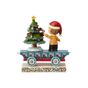 Jim Shore Peanuts Linus Train Car Christmas Figurine New with Box