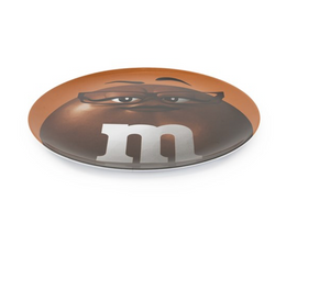 M&M's World 2020 Brown Character Big Face Dinner Plate New