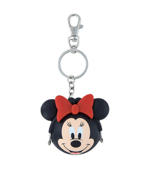 Disney Parks Minnie Mouse Coin Purse Silicone Keychain New with Tags