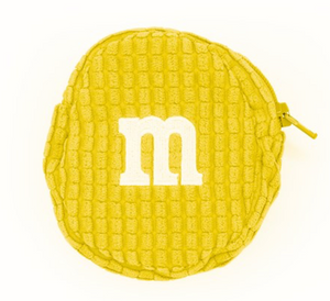 M&M's World Yellow Logo Coin Purse Plush New with Tags
