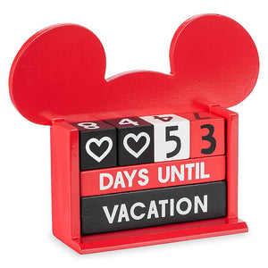 Disney Mickey Countdown Block Calendar Days Until Vacation New with Box