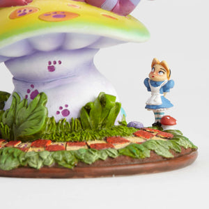 Disney Miss Mindy Cheshire Cat On Mushroom Figurine New with Box