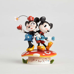 Disney Miss Mindy Mickey & Minnie Mouse On Mushroom Figurine New with Box