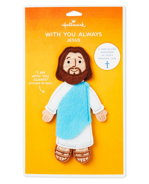 Hallmark With You Always Felt Flat Jesus Take Along Companion New with Card