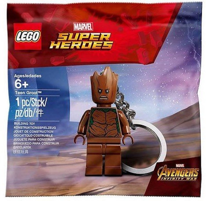 Lego Marvel Avengers Infinity War Teen Groot Keychain Polybag New