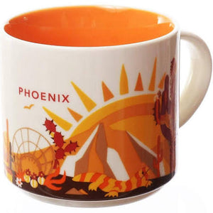 Starbucks You Are Here Phoenix Arizona Ceramic Coffee Mug New with Box