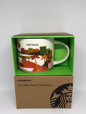 Starbucks Coffee You Are Here Thailand Pattaya Ceramic Coffee Mug New with Box