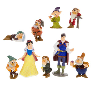disney parks snow white and seven dwarfs playset cake topper new with box
