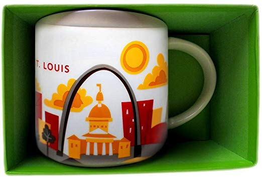 Starbucks You Are Here St. Louis Missouri Ceramic Coffee Mug New With Box